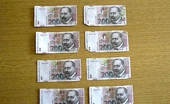STRADALE PEKARE, KIOSCI I KAFIĆI: 20-godišnjak krivotvorio novčanice od 200 kuna