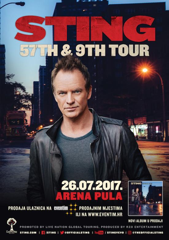 Od danas u prodaji ulaznice za Stingov koncert