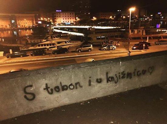 Grafit iz Zadra s posebnom ljubavnom porukom