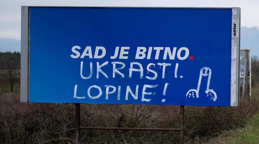 FOTO Građani su poslali poruku HDZ-u pred izbore